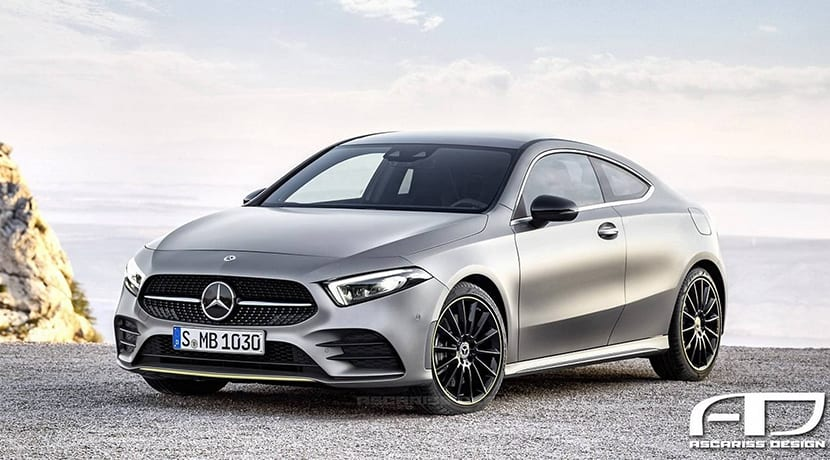 Render de un Mercedes Clase A Coupé