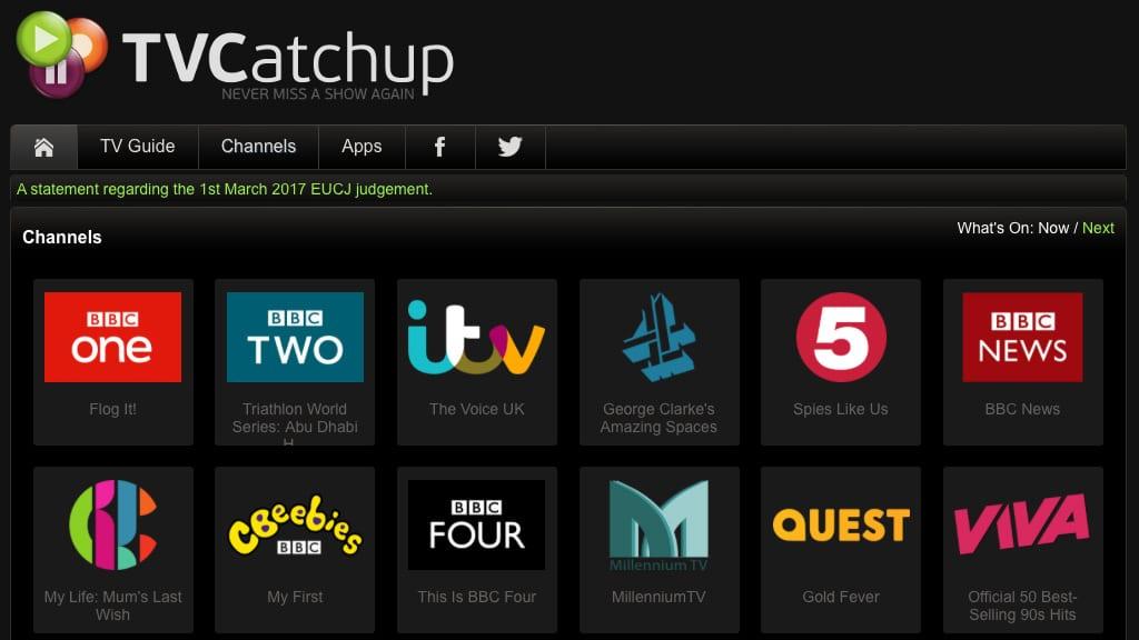 tvcatchup para ver la f1 gratis