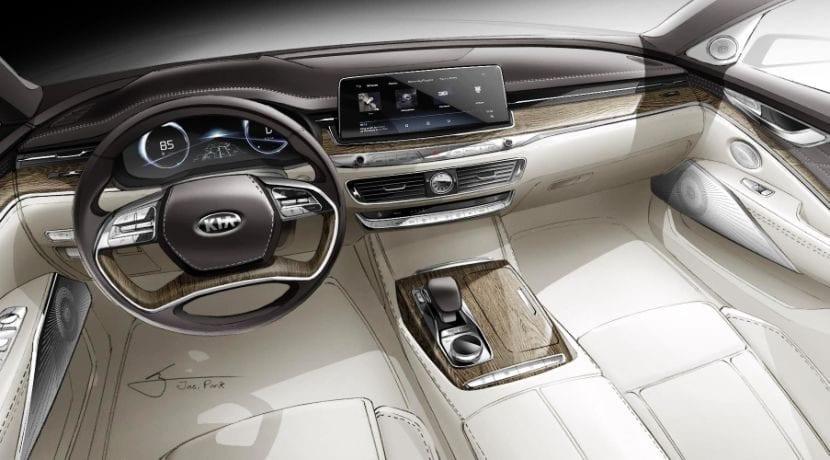 Kia K900 interior teaser