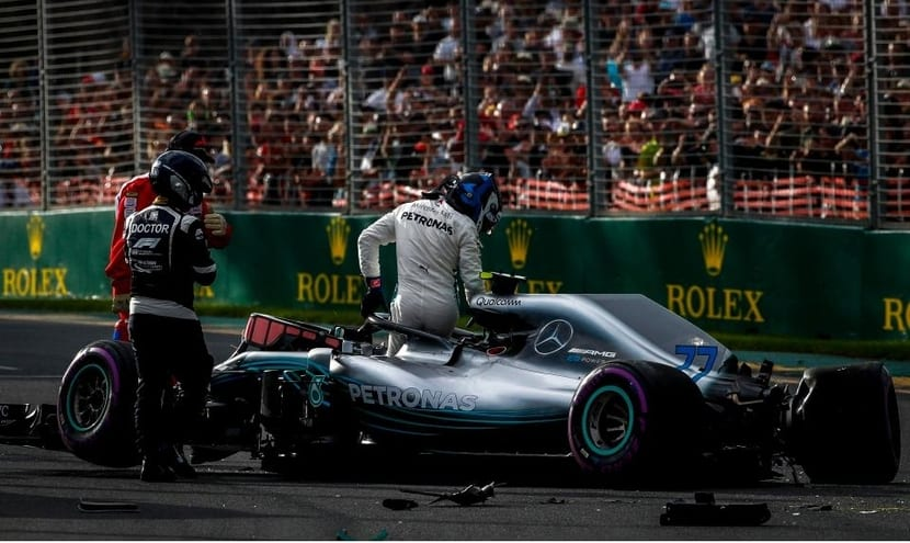 Accidente de Bottas en Australia 2018