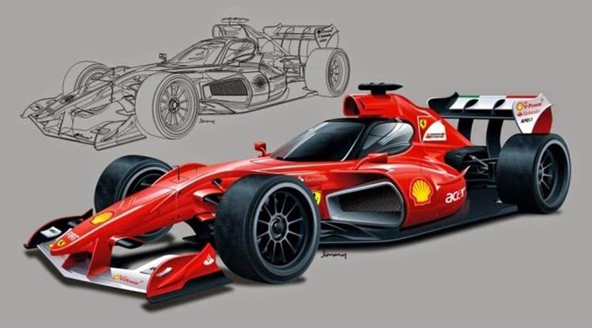 Prototipo Ferrari F1 futurista