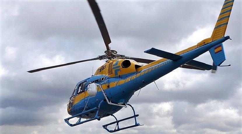 Helicóptero con el sistema Pegasus