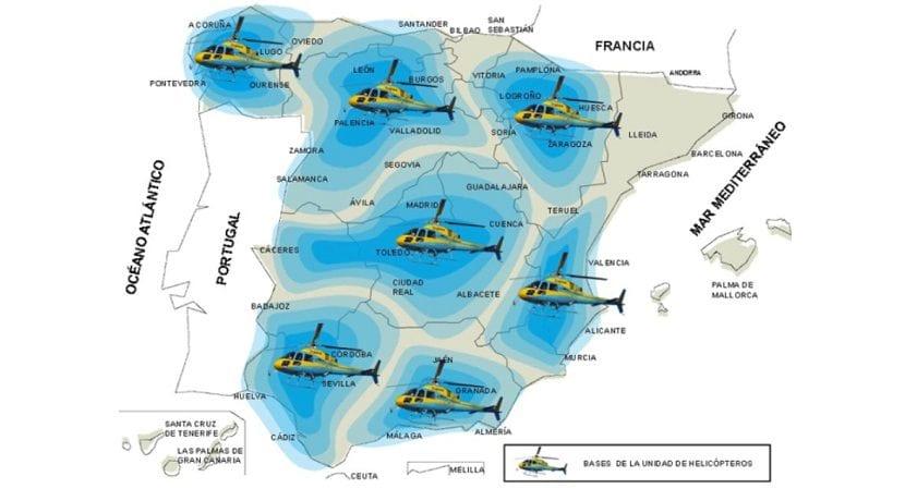 Zonas de España donde opera Pegasus