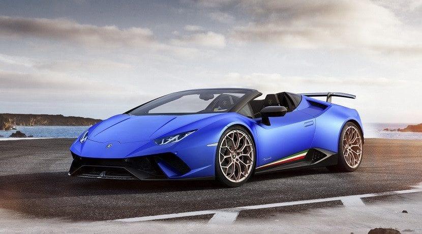 Frontal del Lamborghini Huracan Performante Spyder