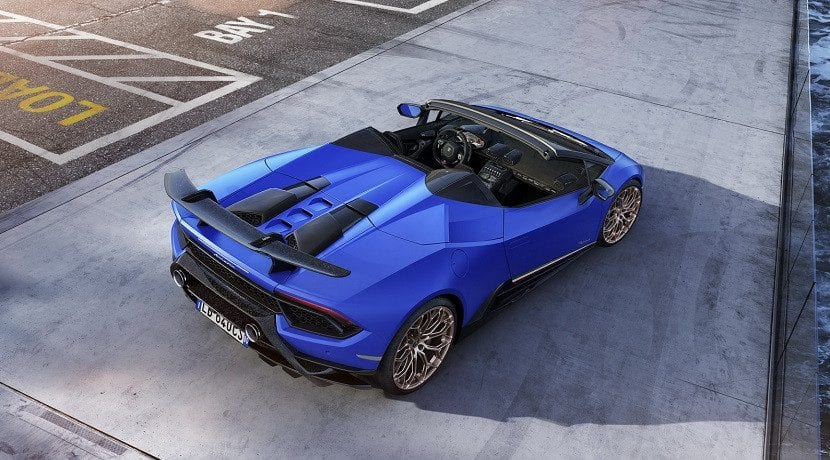 Techo del Lamborghini Huracan Performante Spyder