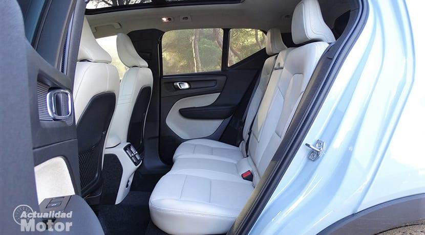 Prueba Volvo XC40 plazas traseras