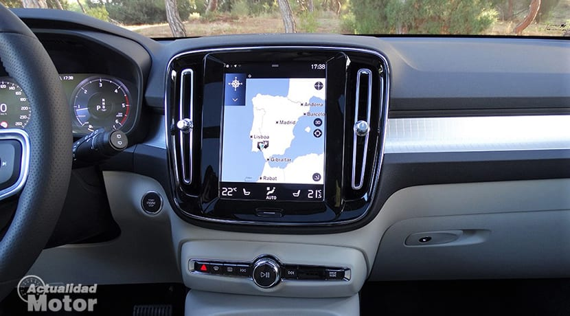 Prueba Volvo XC40 detalles interiores