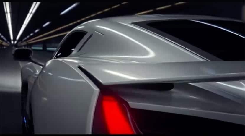 Trasera alerón móvil Rimac Concept Two