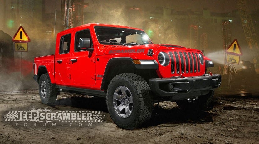Jeep Wrangler Pick up Scrambler render