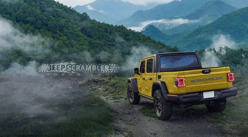 Jeep Wrangler Pick up Scrambler render