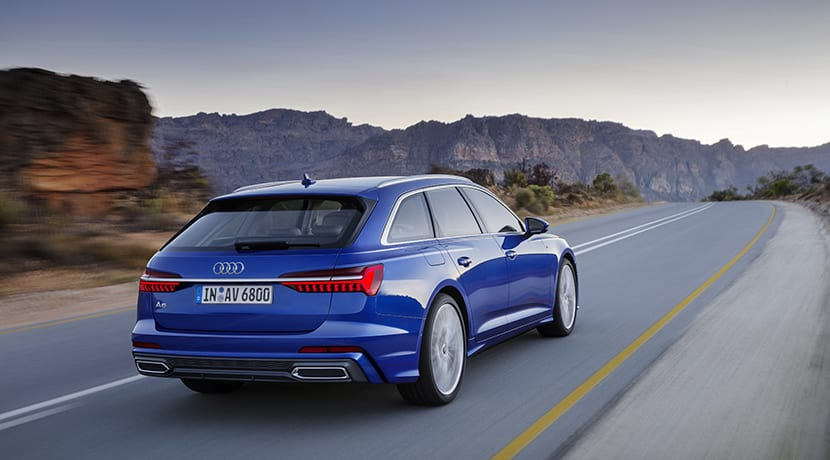 Audi A6 Avant dinámica perfil trasero