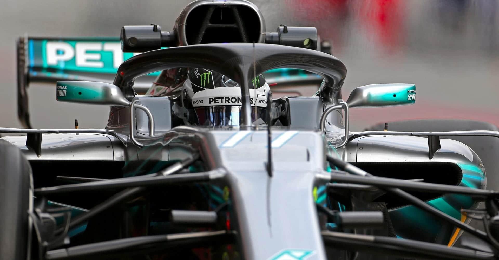 Bottas en el Mercedes F1 de 2018