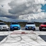 Comparativa compactos deportivos y Drag Race con Ford Focus RS, Honda Civic Type R, Seat León Cupra y Hyundai i30 N