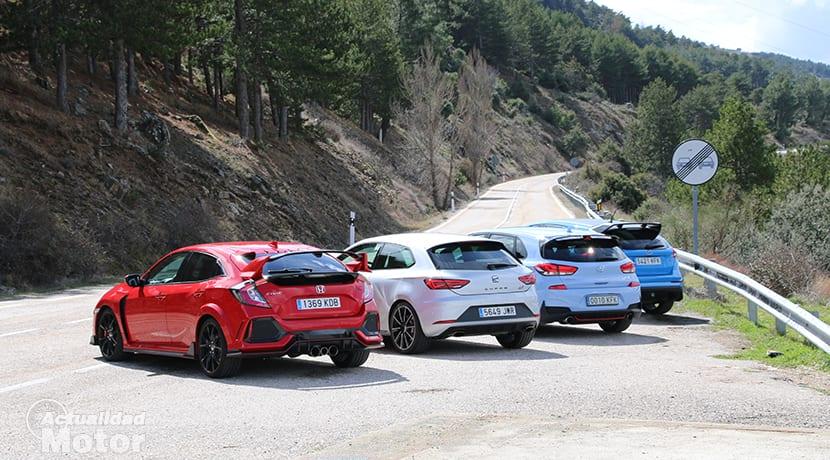 Precios Comparativa Compactos Deportivos con Ford Focus RS, Honda Civic Type R, Seat León Cupra, Hyundai i30 N