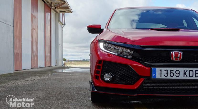 Prueba Honda Civic Type R detalle frontal
