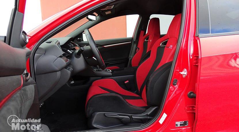 Prueba Honda Civic Type R plazas delanteras