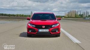 Prueba Honda Civic Type R dinámica frontal