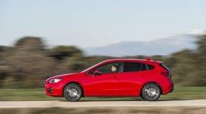 Prueba Subaru Impreza dinámica lateral