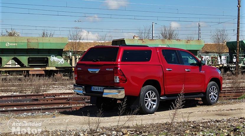 Prueba Toyota Hilux perfil trasero