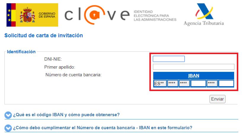 Solicitud de carta de invitación al sistema Cl@ve