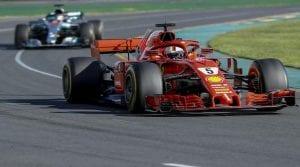 Vettel en el Ferrari de 2018
