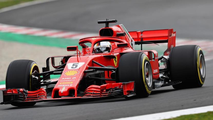 Vettel en Ferrari 2018