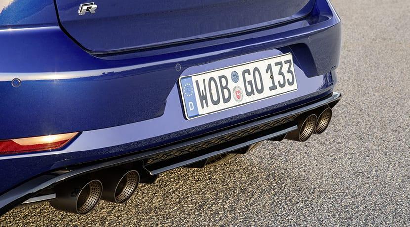 Volkswagen Golf R tubo de escape