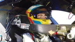 Fernando en el Toyota TS050