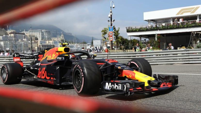 Ricciardo en el Red Bull por Mónaco