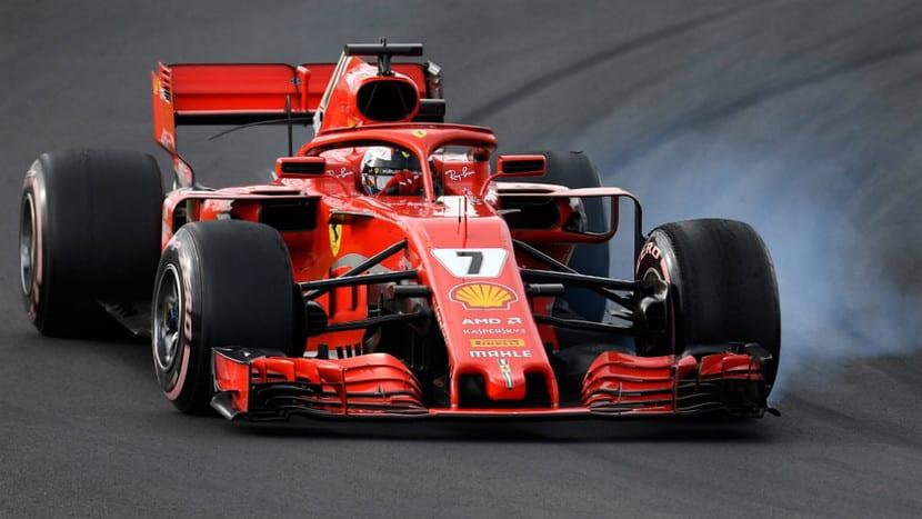 Kimi en su Ferrari de 2018