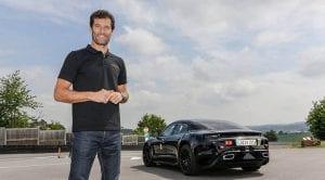 Mark Webber con el Porsche Mission E