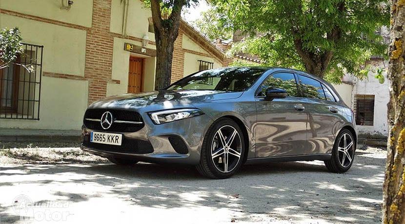 Prueba Mercedes Clase A perfil delantero
