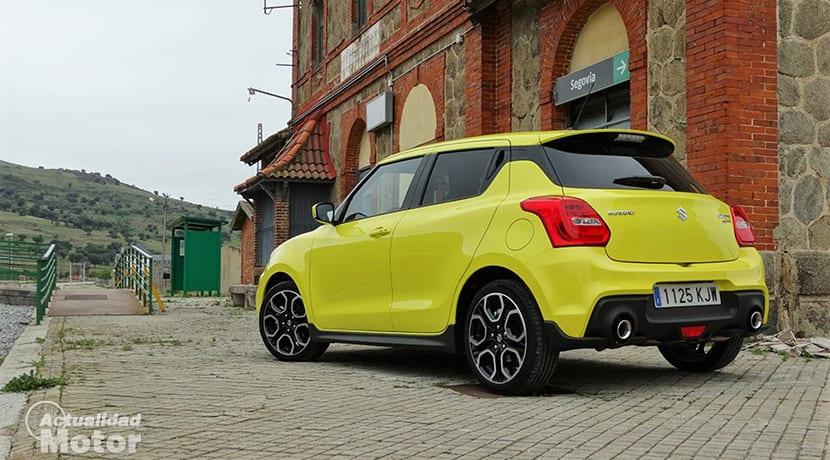 Prueba Suzuki Swift Sport perfil trasera