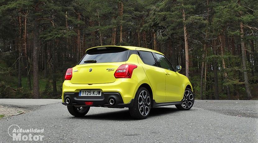 Prueba Suzuki Swift Sport trasera