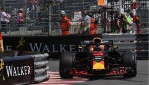 Ricciardo en el GP de Mónaco 2018