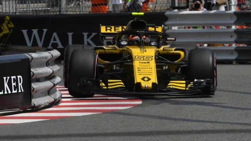 Sainz en el Renault en Mónaco 2018