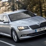 Frontal del Skoda Superb blindado