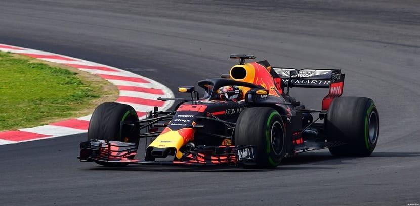 Verstappen en su Red Bull
