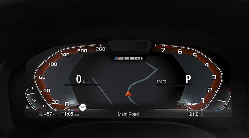 BMW Serie 8 Coupé cuadro instrumentos digital