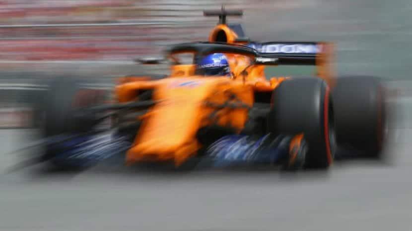 Fernando en el MCL33 en Francia