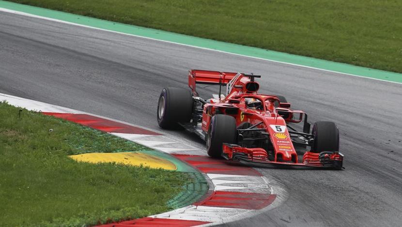 Sebastian Vettel en GP de Austria 2018