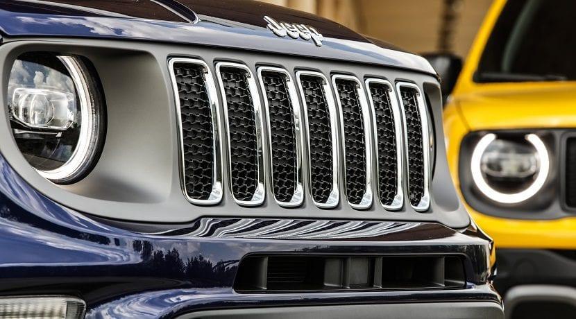 Nueva parrilla del Jeep Renegade 2019