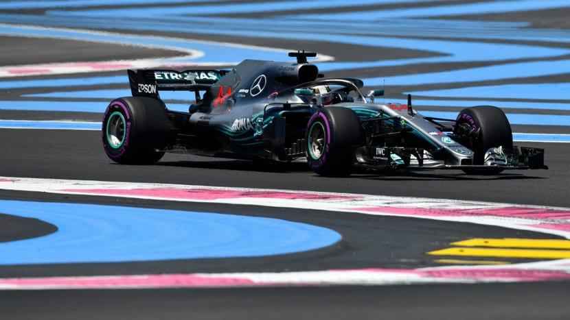 Mercedes en el GP de Francia 2018