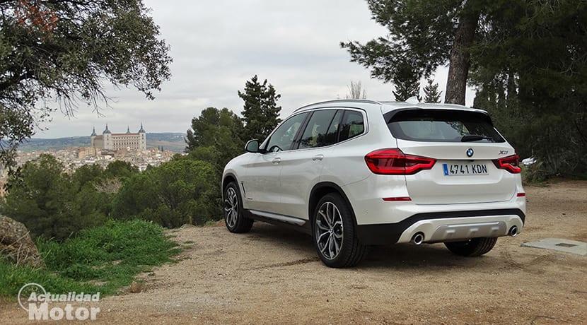 Prueba BMW X3 perfil trasero