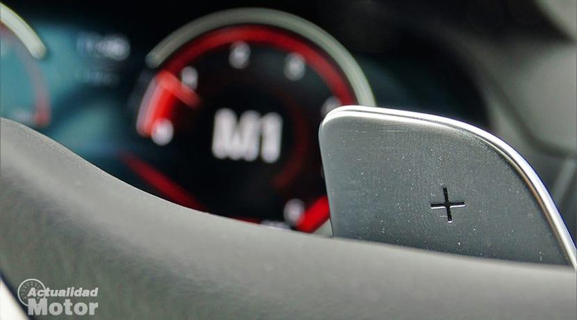 Prueba BMW X3 levas y cuadro de instrumentos