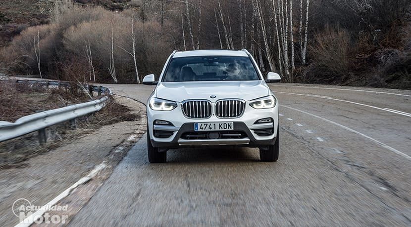 Prueba BMW X3 dinámica frontal