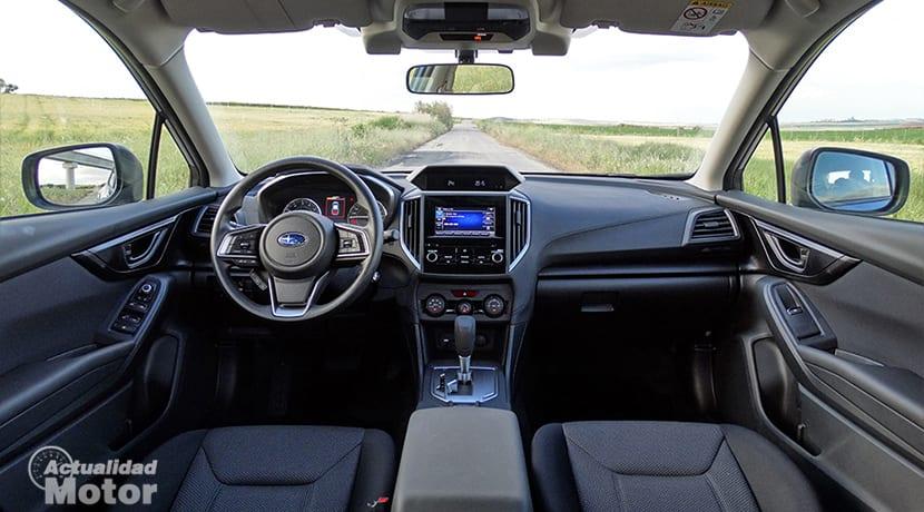 Prueba Subaru Impreza diseño interior