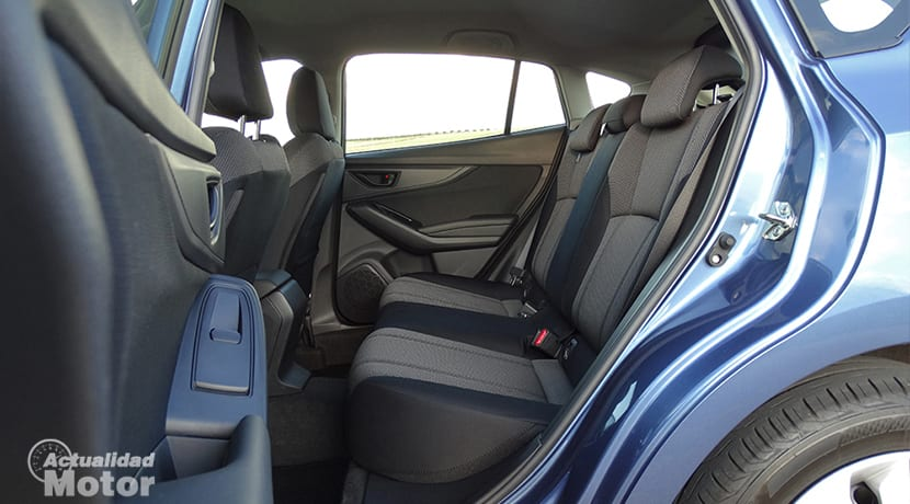 Plazas traseras del Subaru Impreza