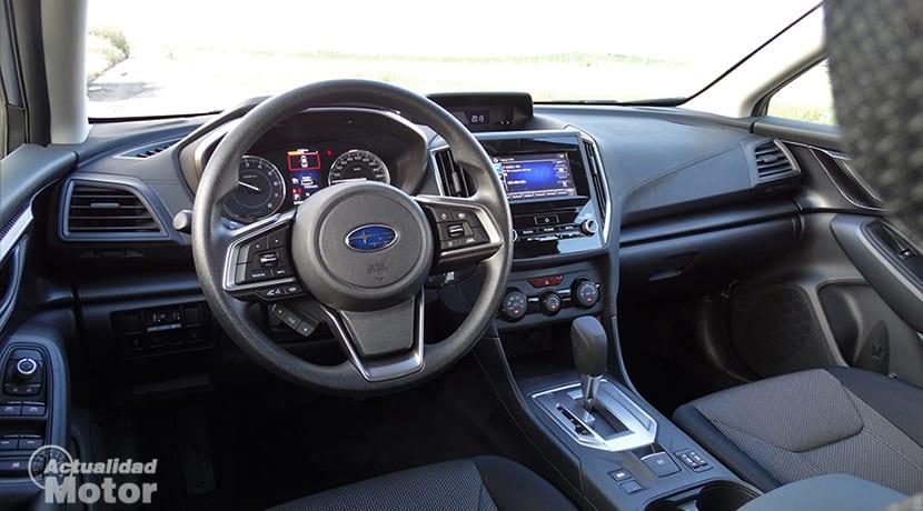 Prueba interior Subaru Impreza
