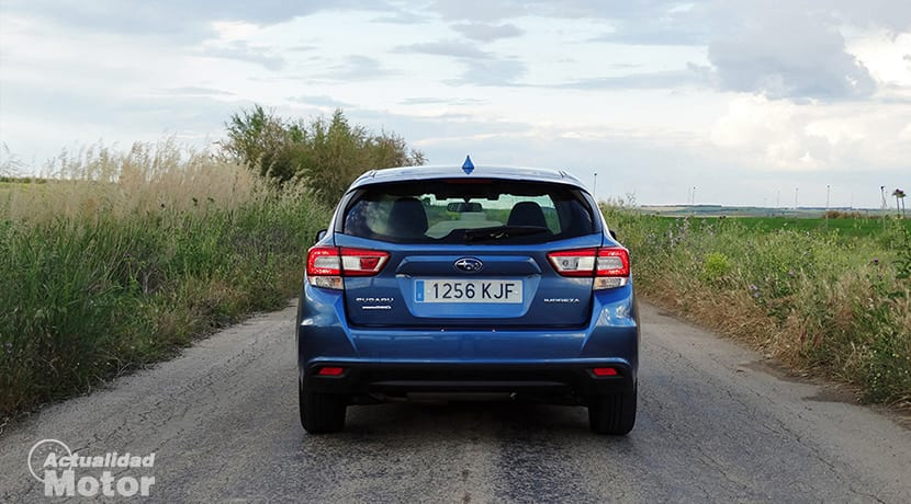 Prueba Subaru Impreza parte trasera